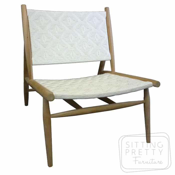Cusco Lounge Chair U2013 Teak/White