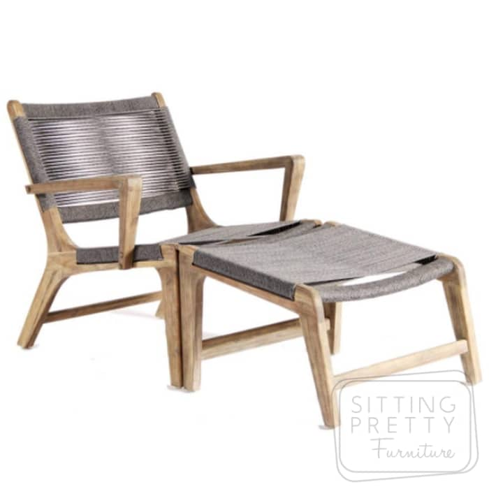 Byron Lounge Chair & Footstool – THREE LEFT