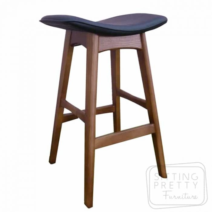 Replica Johannes Andersen Allegra Stool - Walnut/Black - DUE MID APRIL