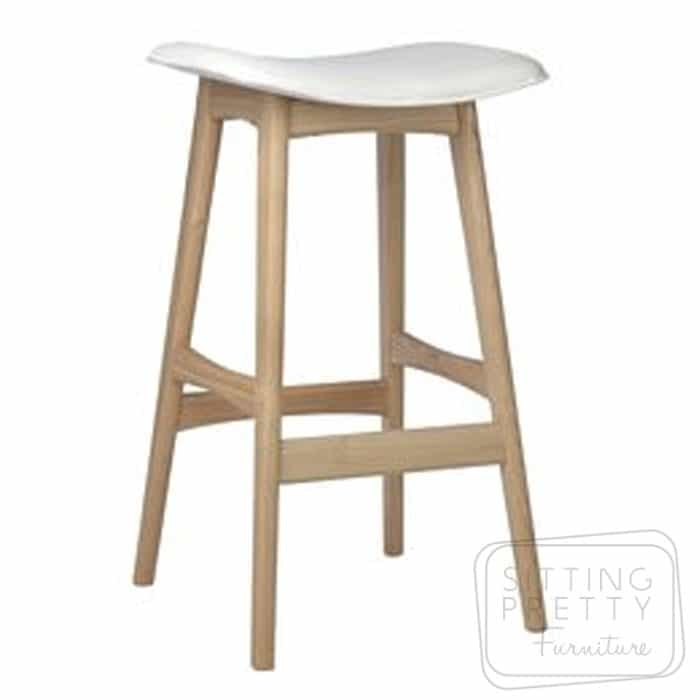 Replica Johannes Andersen Allegra Stool - Ash/White - DUE MID APRIL