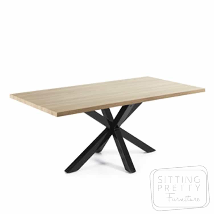 Arya Table - Natural Top/Black Legs 200cm