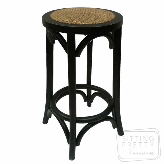 Bella Backless Stool - Vintage Black