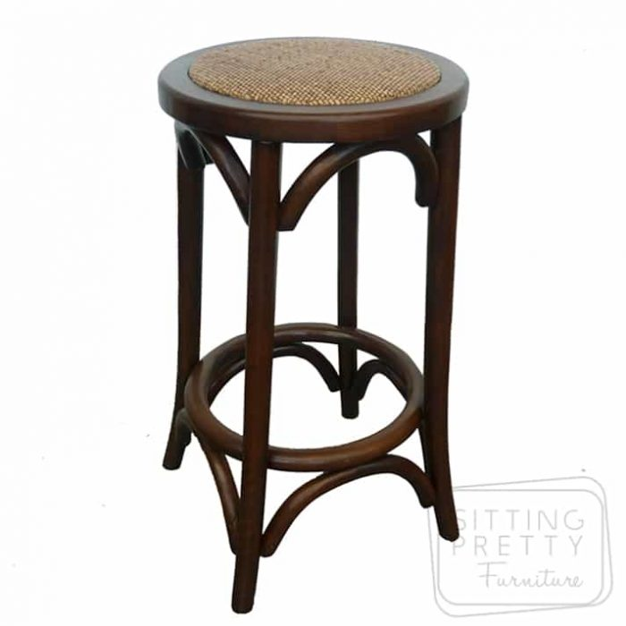 Bella Backless Stool - Walnut Stain
