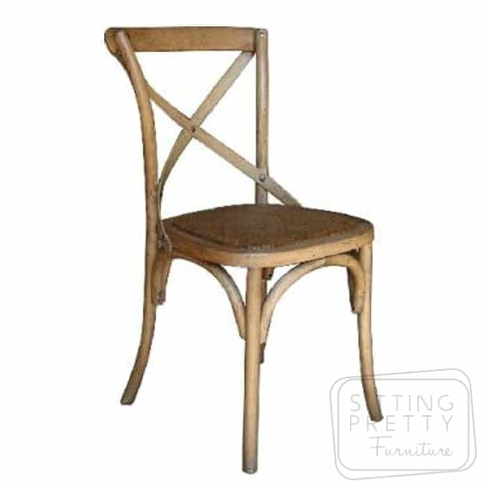 Bella Cross Back Chair - Oak