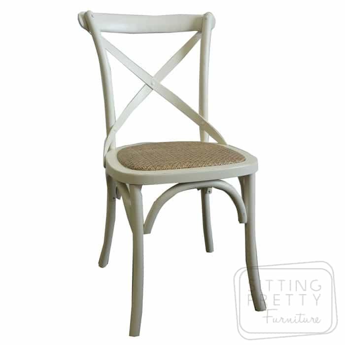 Bella Cross Back Chair – Ivory