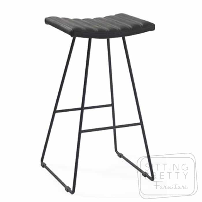 Bindi Stool - Black/Black Base