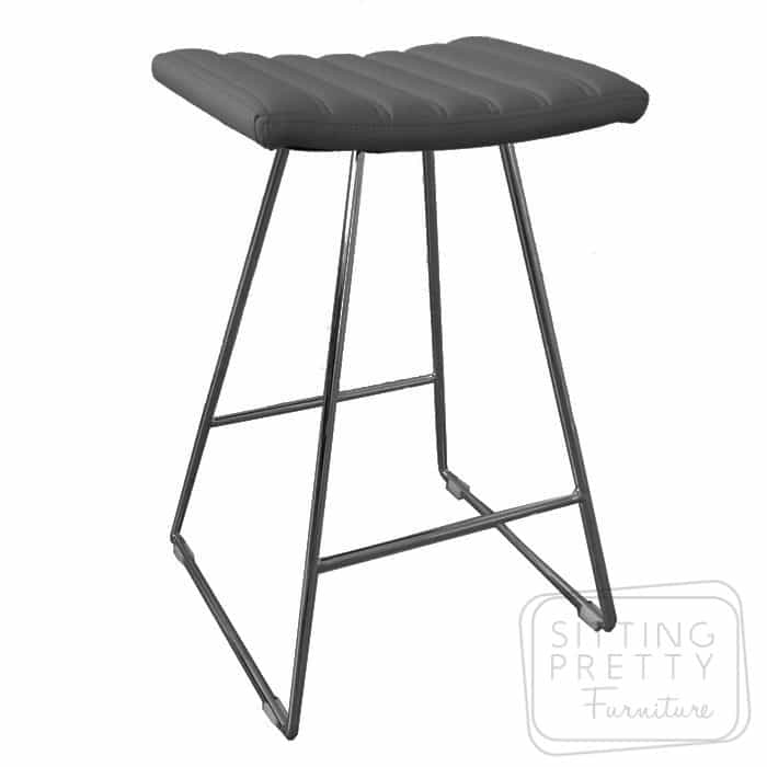 Bindi Stool - Black/Chrome Base