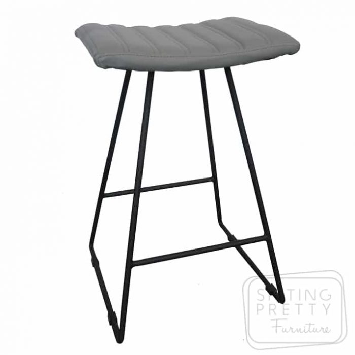 Bindi Stool - Grey/Black Base