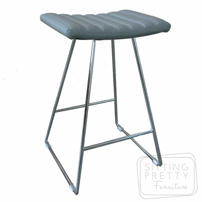 Bindi Stool - Grey/Chrome Base