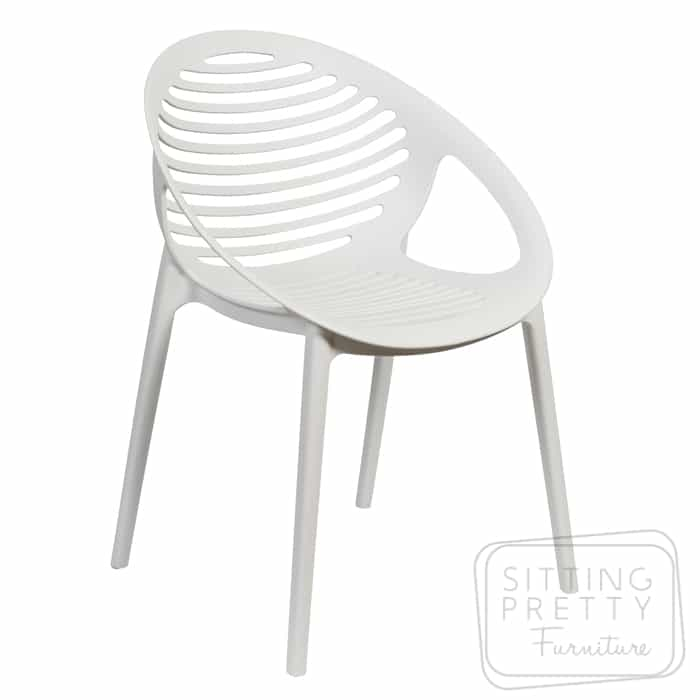 Coogee Stackable Chair – White