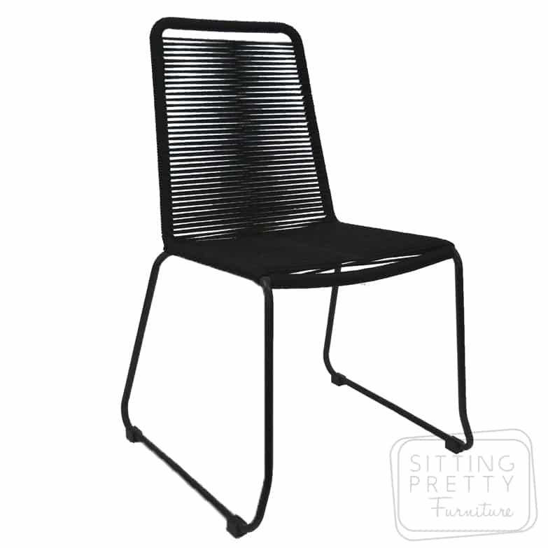 Crusoe Rope Chair - Black