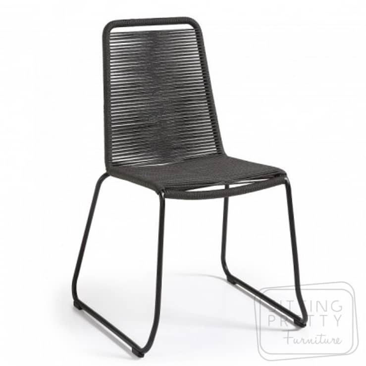 Crusoe Rope Chair – Charcoal (Stackable)