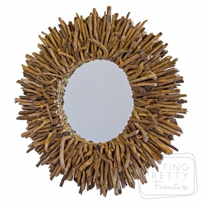 Driftwood Mirror - 86cm Diam