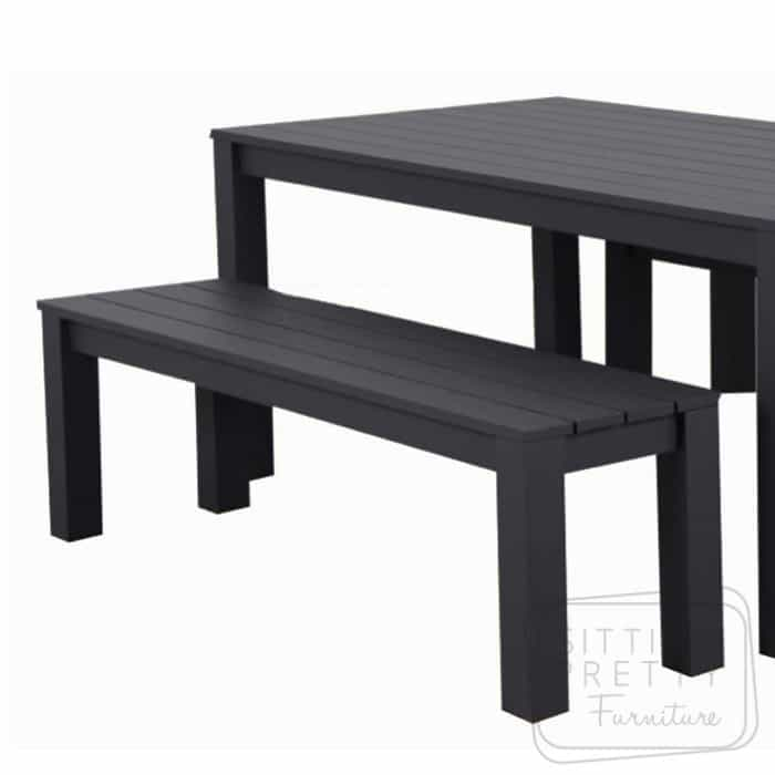 Brilliant Dune Aluminium Outdoor Bench 156Cm Charcoal Designer Caraccident5 Cool Chair Designs And Ideas Caraccident5Info