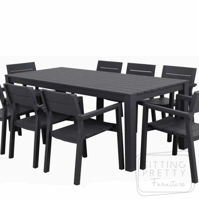 Dune Aluminium Outdoor Table 220cm - Charcoal