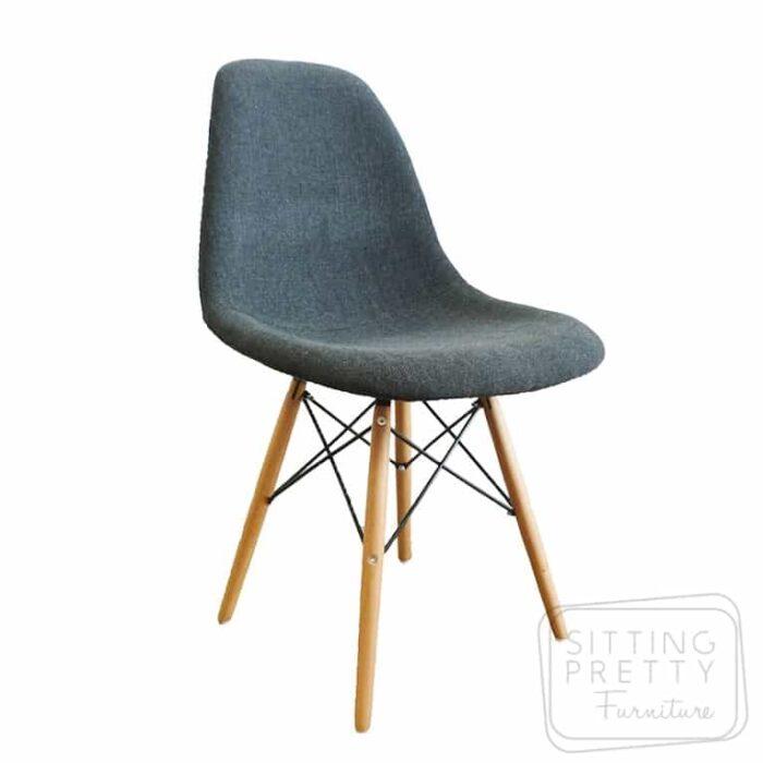 Sale Replica DSW Eames Sidechair with charcoal upholstered seatReplica   Designer Furniture Perth   Sitting Pretty Furniture  . Eames Saarinen Replica Organic Chair Perth. Home Design Ideas