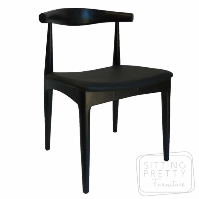 Replica Hans Wegner Elbow Chair - All Black