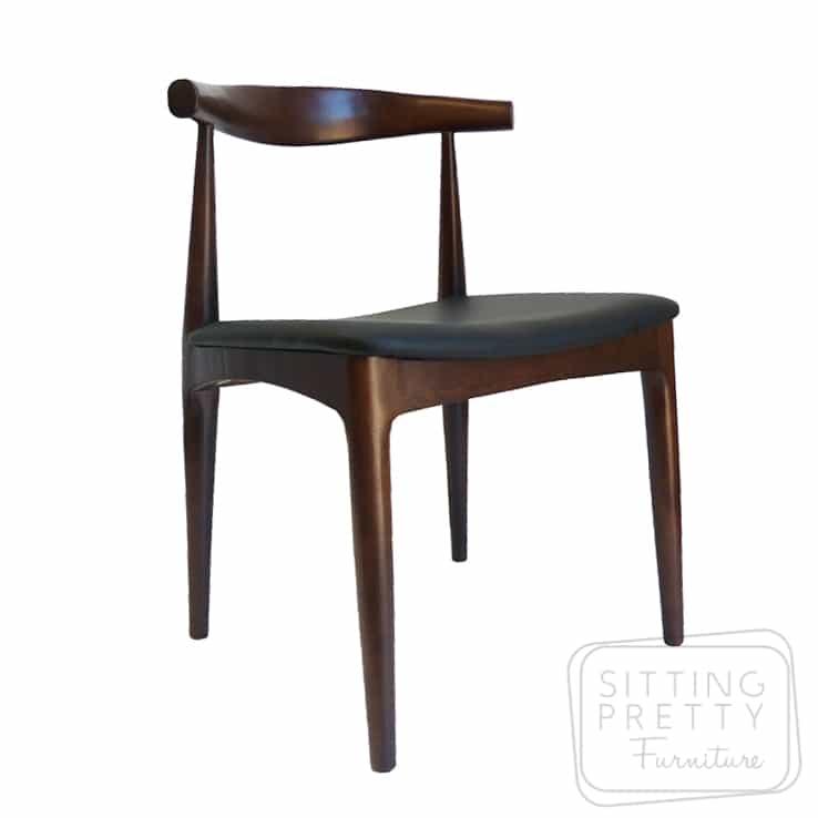 Replica Hans Wegner Elbow Chair - Dark Walnut - 7 LEFT