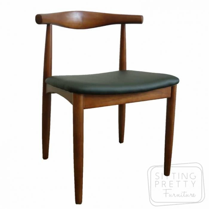 Replica Hans Wegner Elbow Chair - Walnut
