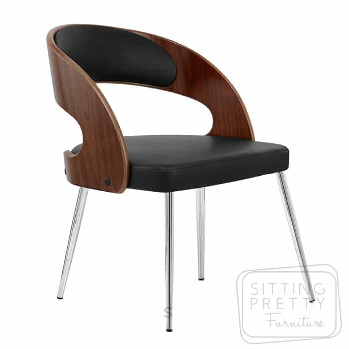 Gatsby Dining Chair – Walnut/Black