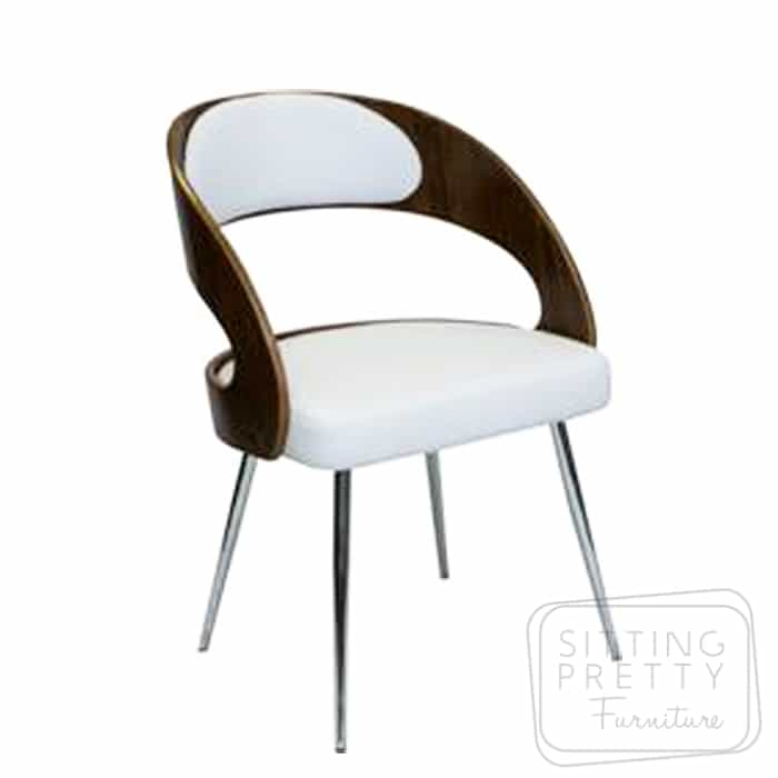 Gatsby Dining Chair – Walnut/White