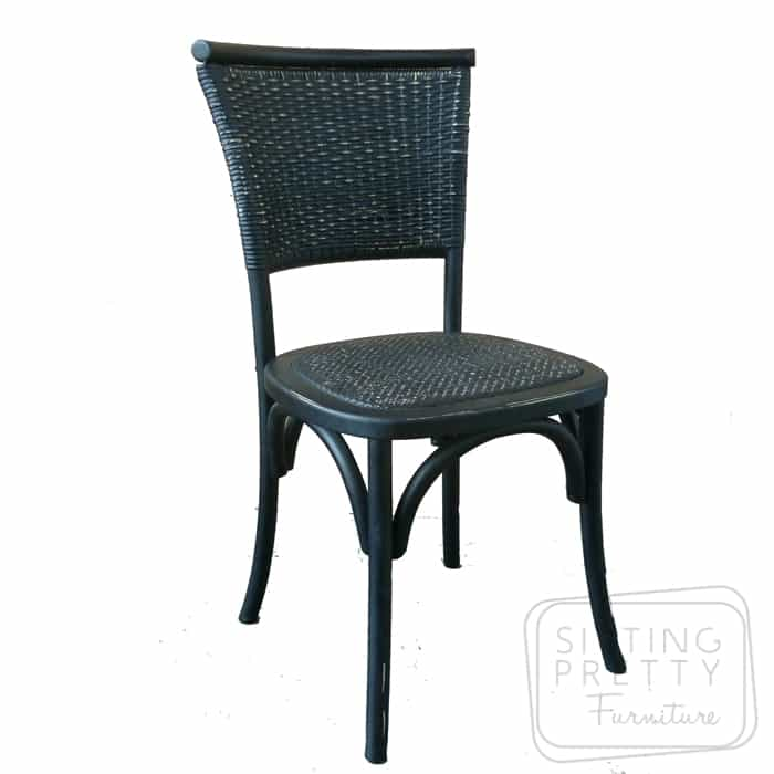 Flaxen Oakwood Chair - Vintage Black