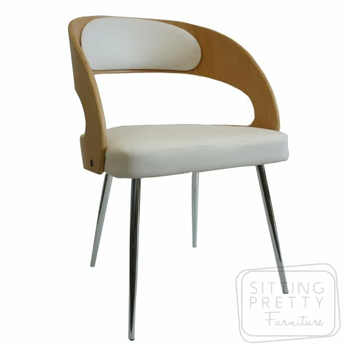 Gatsby Dining Chair - Oak/White