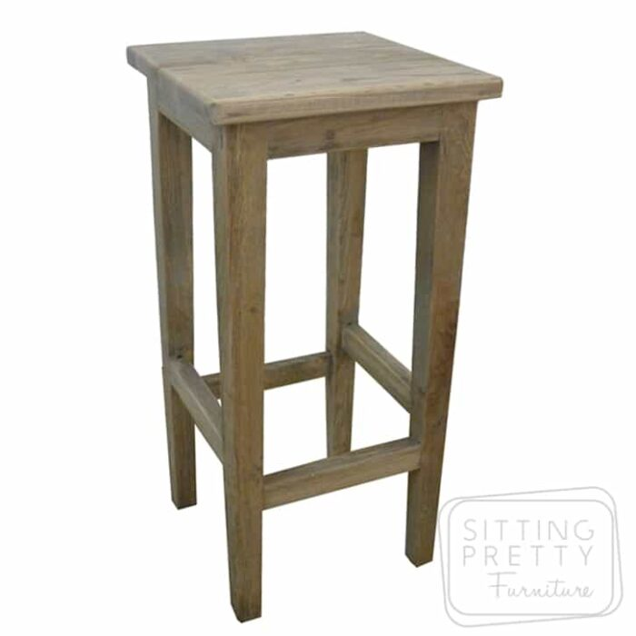 Hampton Solid Oak Stool - Grey Wash