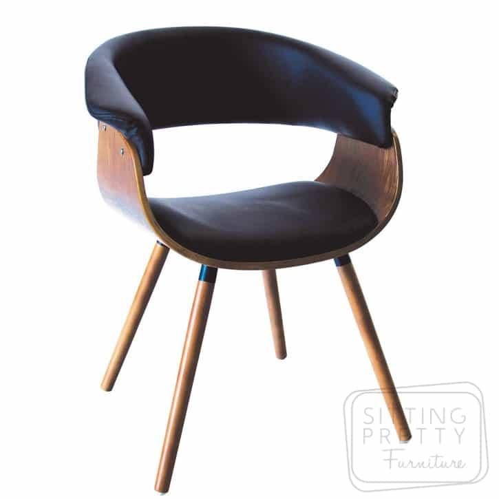 James Chair Walnut/Black - DUE LATE MARCH