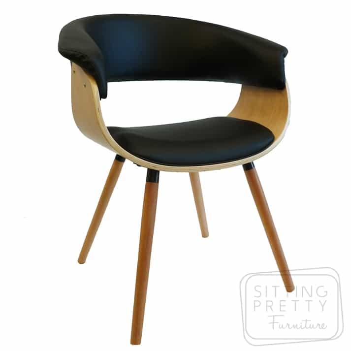 James Chair Oak/Black PU
