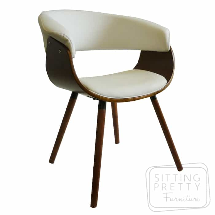 James Chair Walnut/White PU