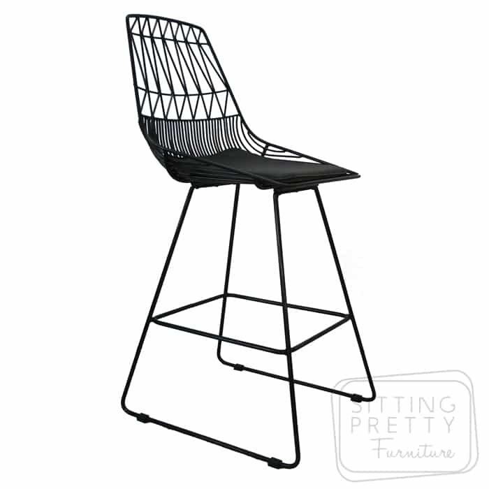 Replica Lucy Bend Stool - Black with removable seat pad - DUE MID APRIL