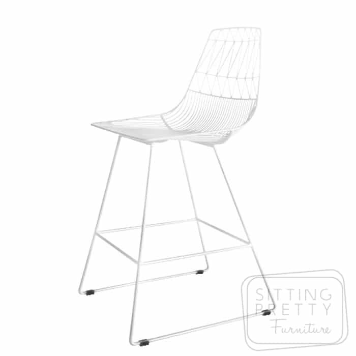 Replica Lucy Bend Stool - White with removable seat pad - DUE MID APRIL