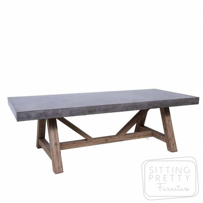 Manor Concrete Table (Dark Grey) - 240cm