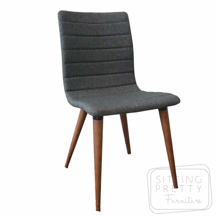Soho Chair - Charcoal fabric/Walnut Leg