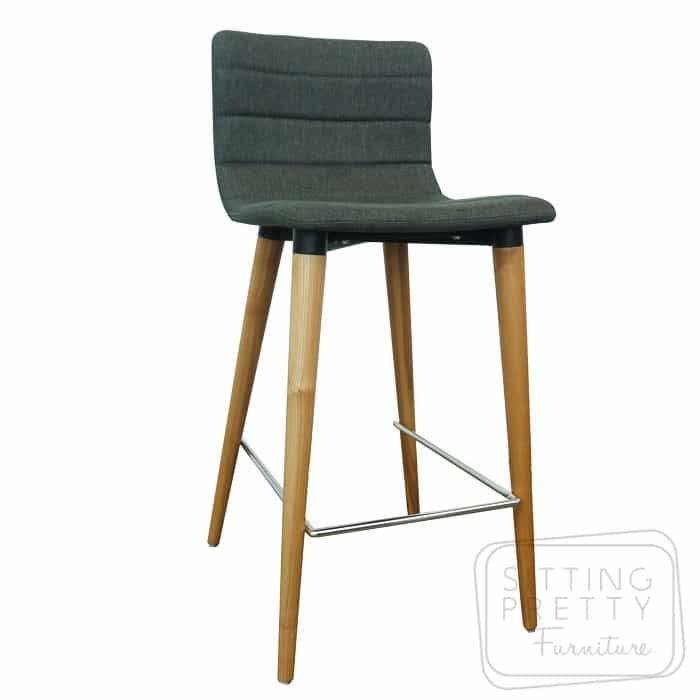 Soho Stool - Charcoal fabric/Ash Leg