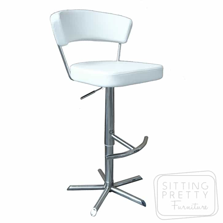 Reno Gaslift Stool - White