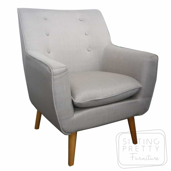 Retro Fabric Chair – Oatmeal
