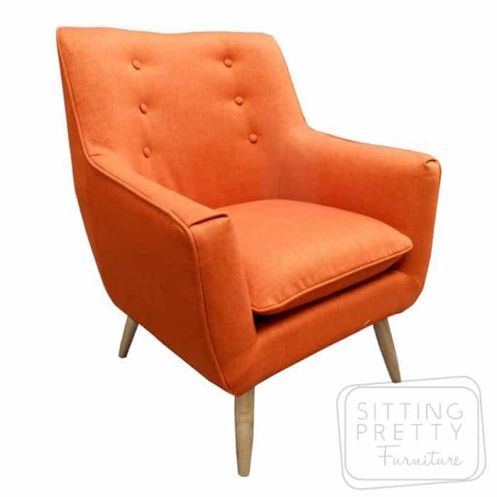 Retro Fabric Chair - Orange