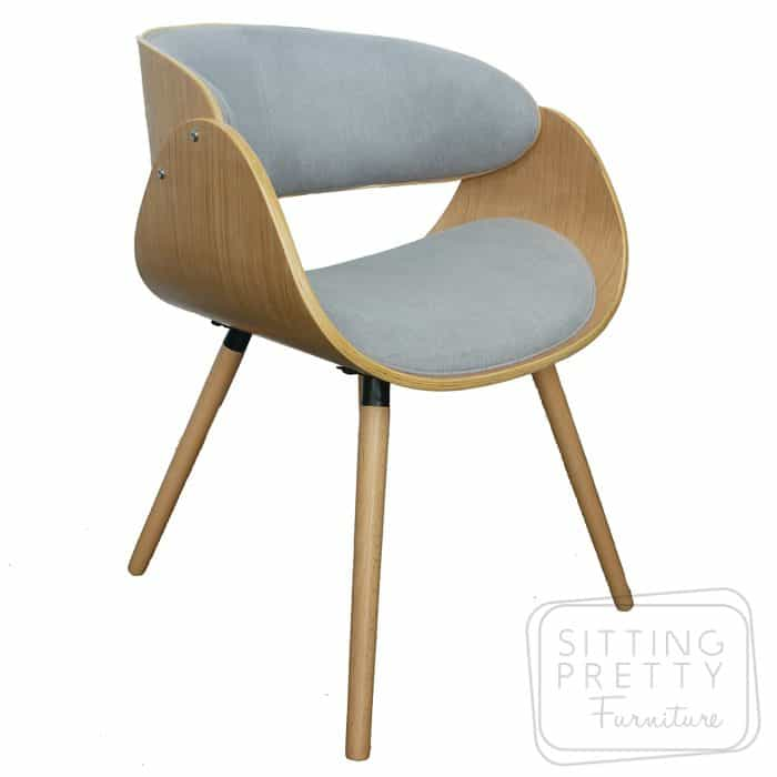 Savoy Chair - oak/dove grey fabric