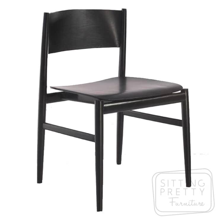 Slice Plywood Chair – Black