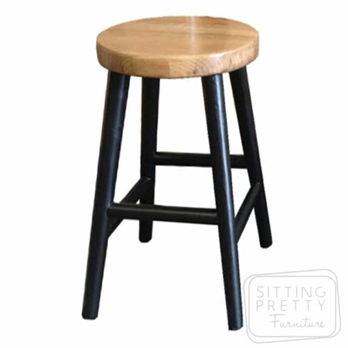 Tiffany Oakwood Stool - Black
