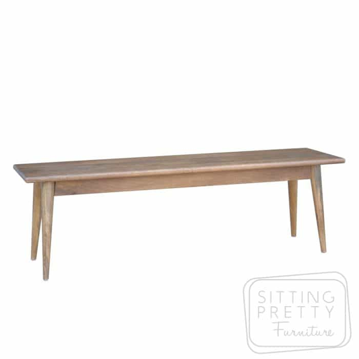 Tribeca Mango Wood Dining Bench 120cm