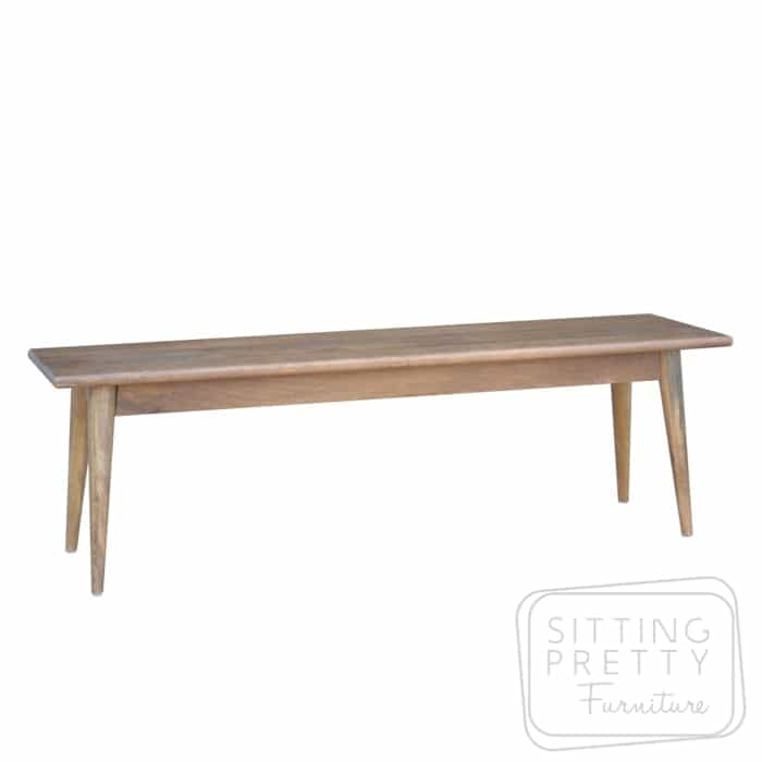 Sensational Tribeca Mango Wood Dining Bench Two Sizes Gmtry Best Dining Table And Chair Ideas Images Gmtryco