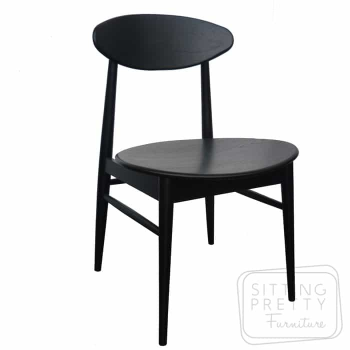 Verve Solid American Oak Chair - Painted Black