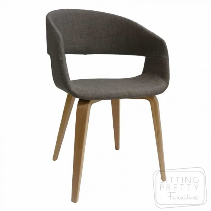 Webster Chair - Mink fabric with walnut or oak legs