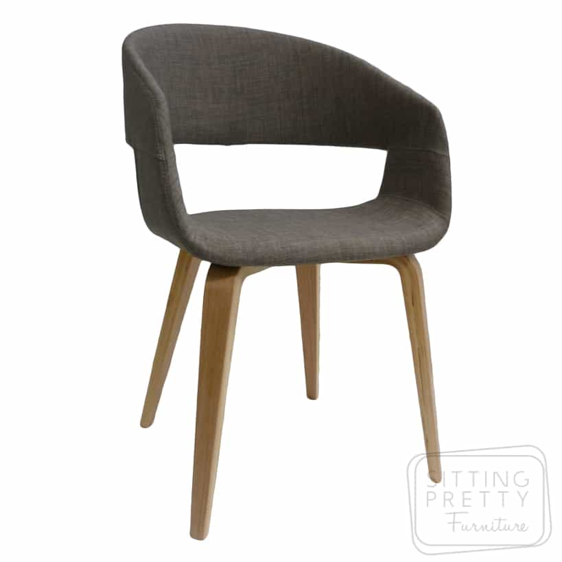 Webster Chair – Mink fabric with Walnut or Oak Legs