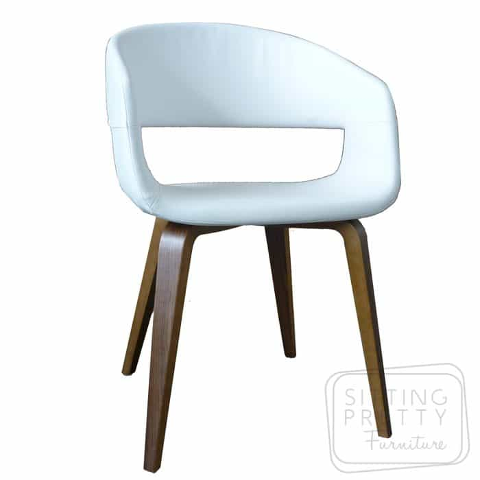 Webster Chair - White with Oak Legs