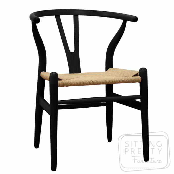 Replica Hans Wegner Wishbone chair - Black