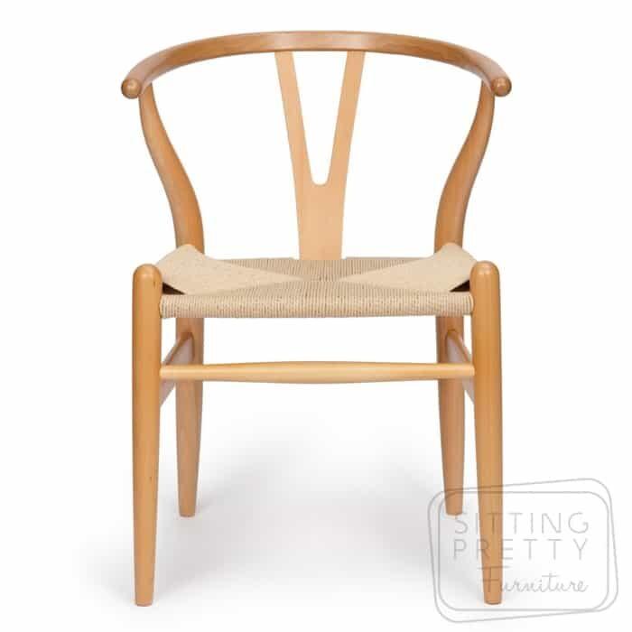 Replica Hans Wegner Wishbone chair - Natural